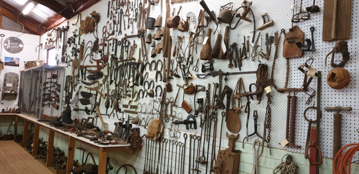 Large collection of farm tools